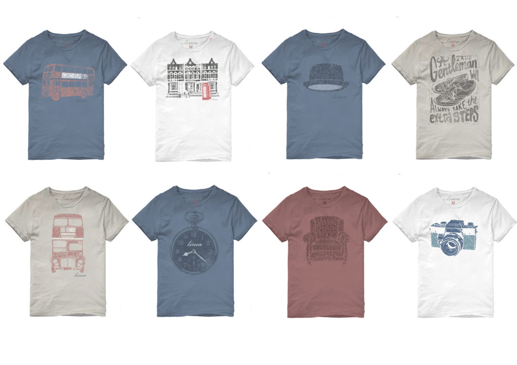 LINEA BRITISH T-SHIRT GRAPHICS